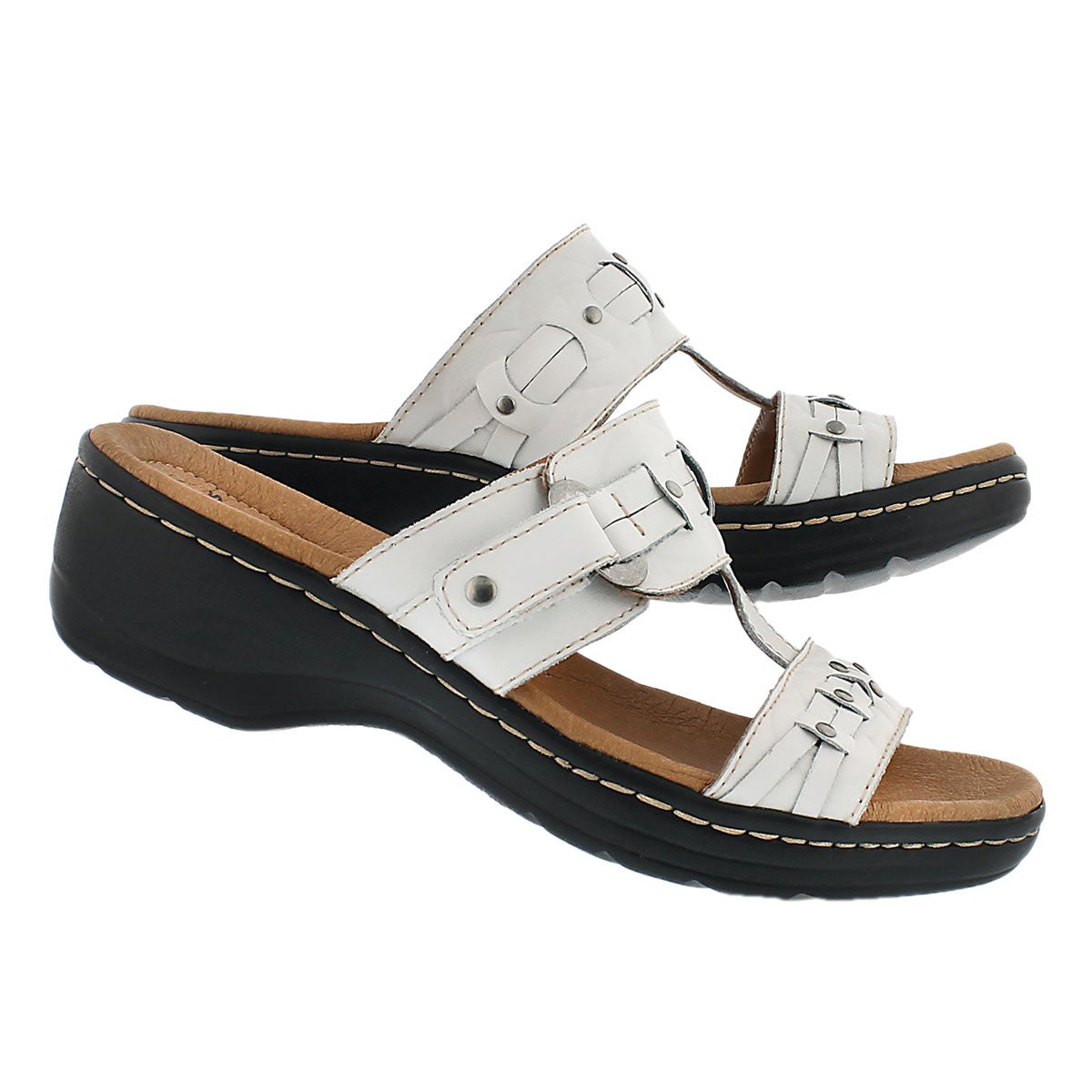 Lds Hayla Young wht casual slide sandal