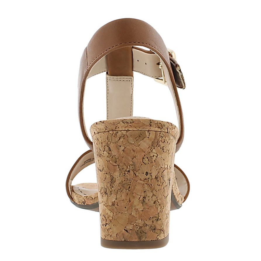 Lds Smart Deva tan t-strap dress sandal