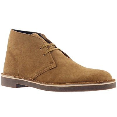 Clarks Men's BUSHACRE 2 wheat suede chukka boots