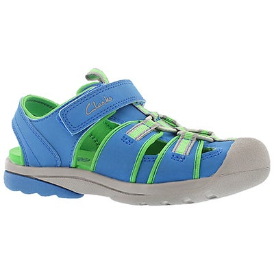 Clarks Kids' BEACH MATE blue/green fisherman sandals