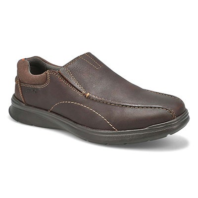 Clarks Men's COTRELL STEP brown slip on - Wide