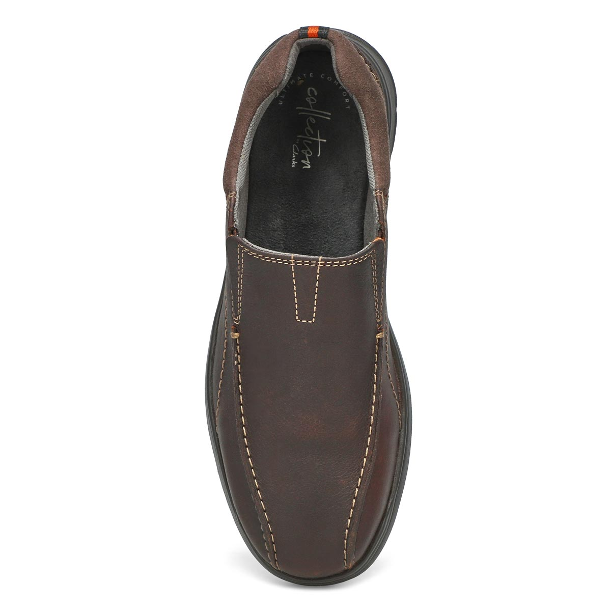 Mns Cotrell Step brown slip on - WIDE