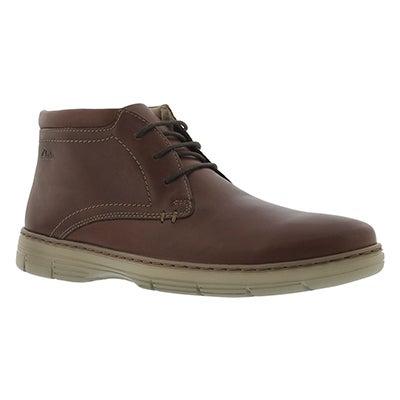 Clarks Men's WATTS MID brown chukka boots