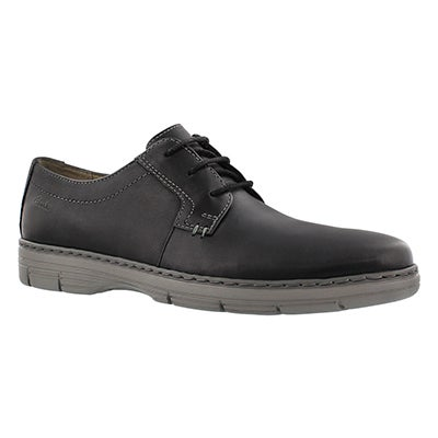 Clarks Men's WATTS PACE black laceup dress oxfords