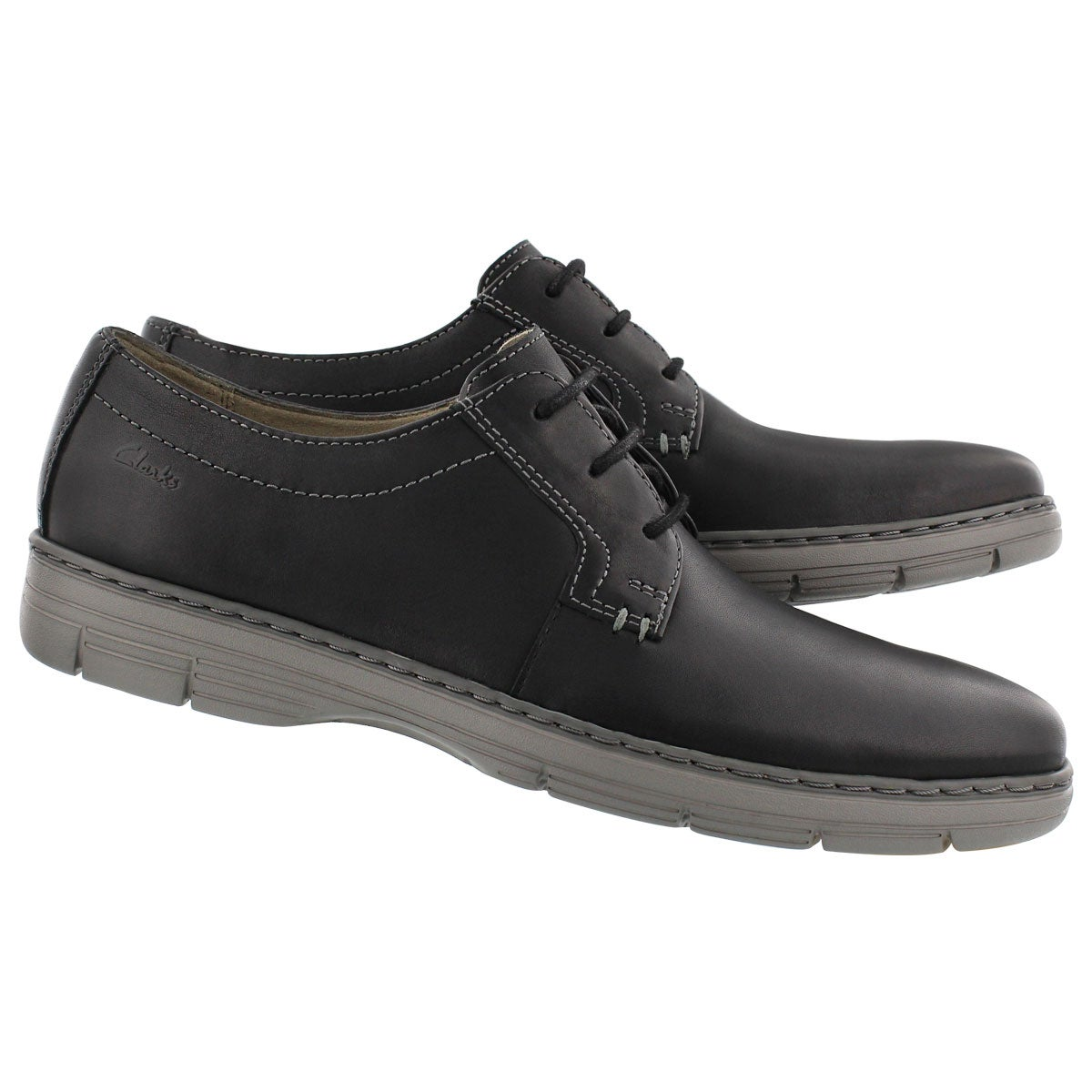 Mns Watts Pace black laceup casua oxford