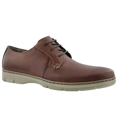 Clarks Men's WATTS PACE brown laceup dress oxfords