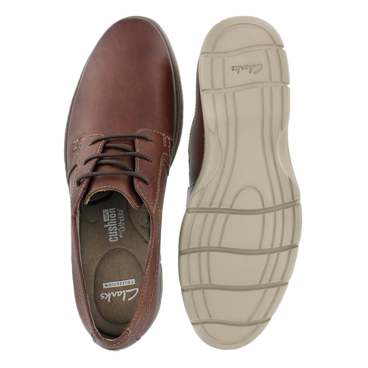 Mns Watts Pace brown laceup casua oxford