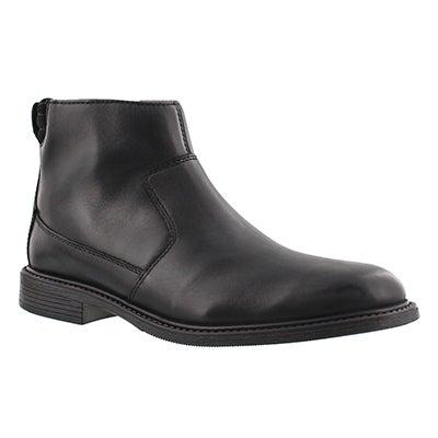 Mns Edman Rise black zip up ankle boot