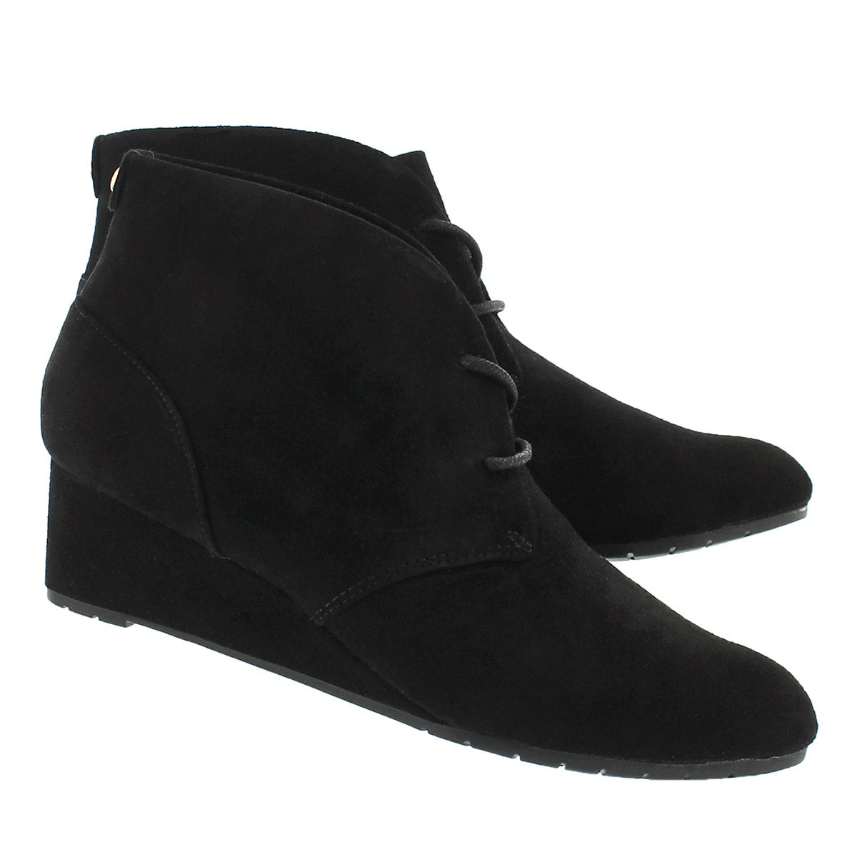 Lds Vendra Peak black lace up wedge boot
