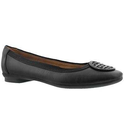 Clarks Women's CANDRA BLUSH black dress flats - Wide