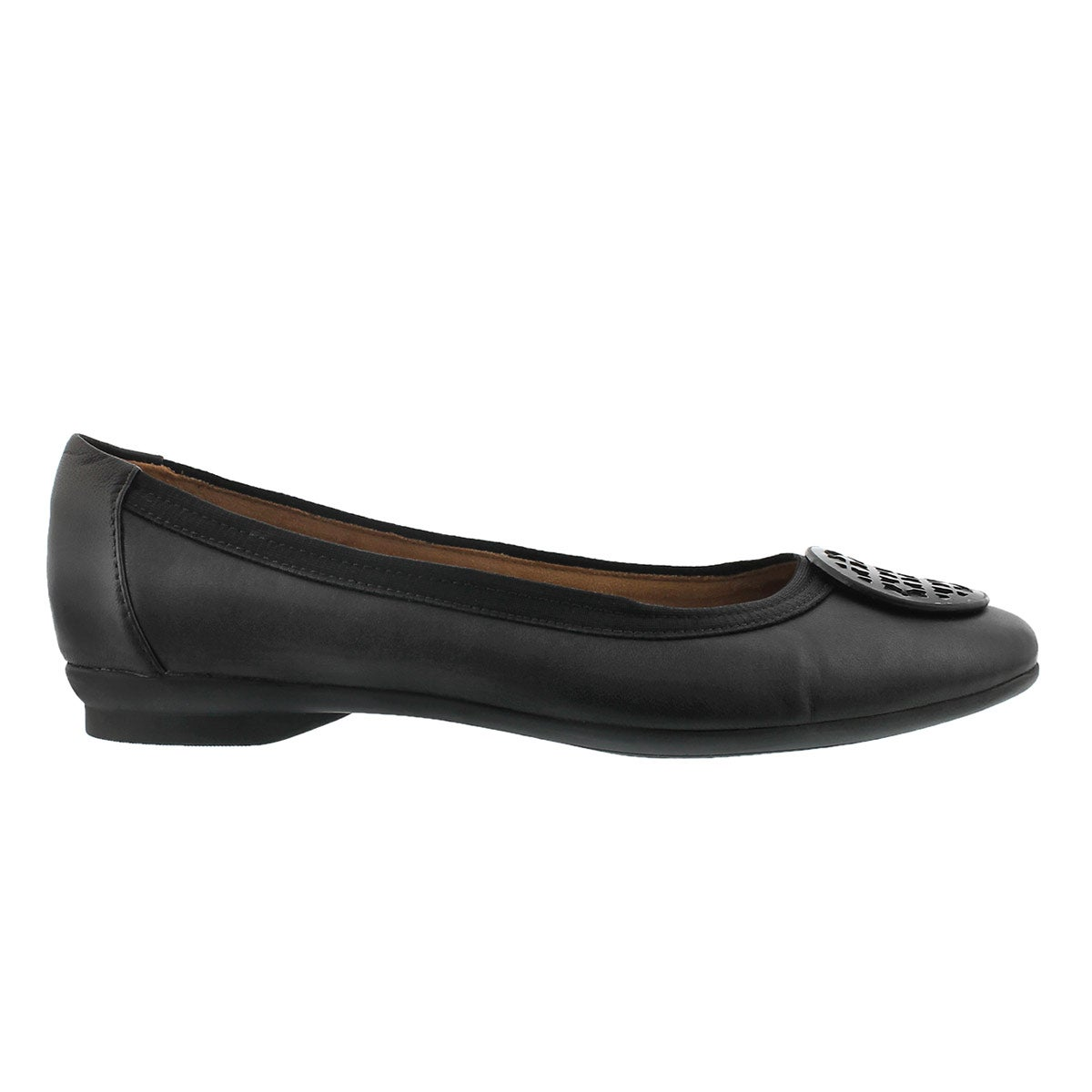 Lds Candra Blush black dress flat-WIDE