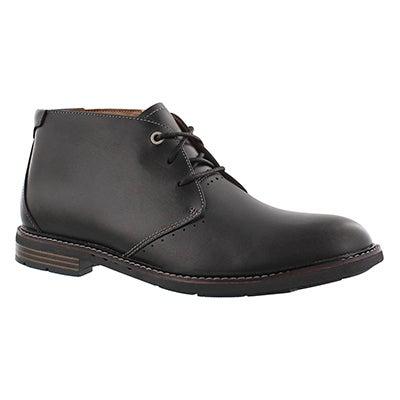 Clarks Men's UN. ELLOT MID black chukka boots