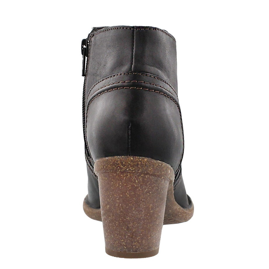 Lds Carleta Paris blk leather ankle boot