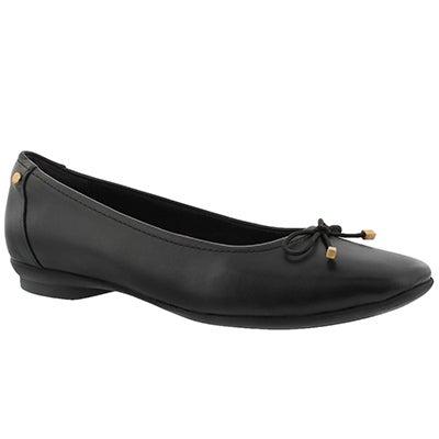 Lds Candra Light black dress flat