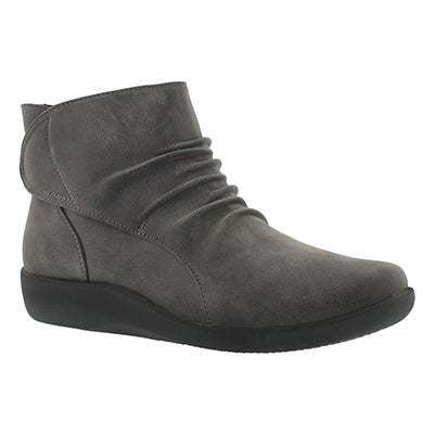 Clarks Women's SILLIAN CHELL grey ankle boots