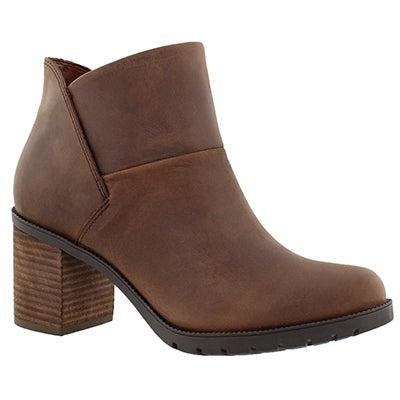 Clarks Women's MALVET HELEN brown slip on ankle boots
