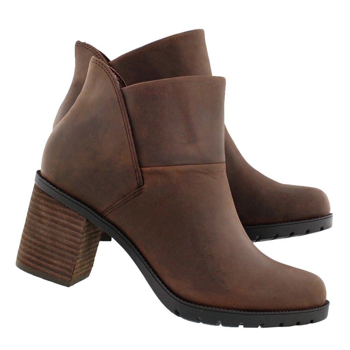 Lds Malvet Helen brn slip on ankle boot
