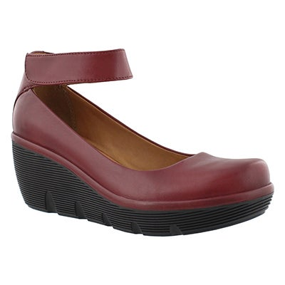 Lds Clarene Tide burg ankle strap wedge