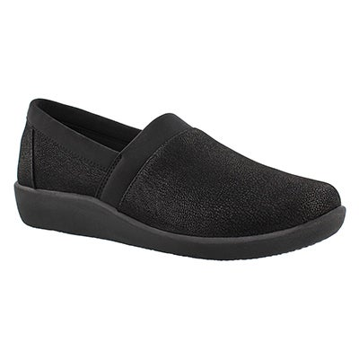 Clarks Women's SILLIAN BLAIR black slip on loafers