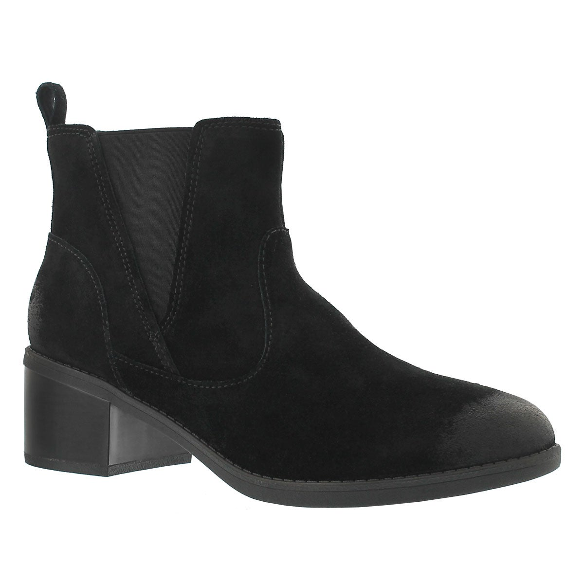 Lds Nevella Bell black casual ankle boot
