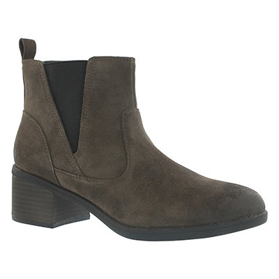 Clarks Women's NEVELLA BELL taupe casual ankle boots