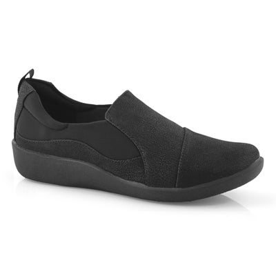 Clarks Women's SILLIAN PAZ black casual loafer