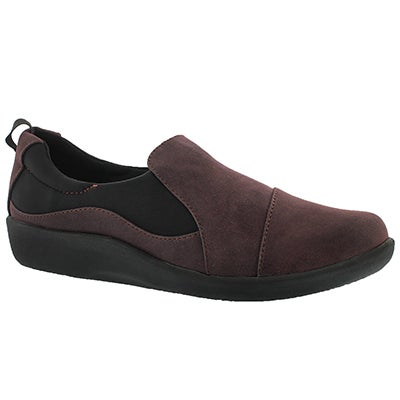 Clarks Women's SILLIAN PAZ aubergine casual loafers