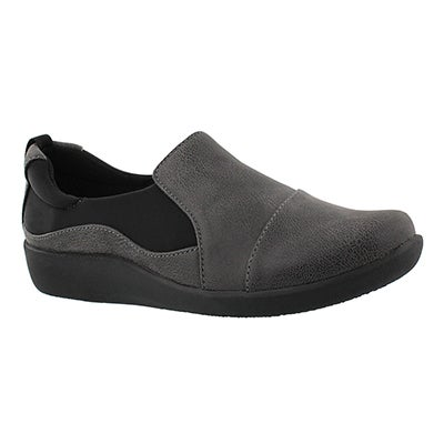 Clarks Women's SILLIAN PAZ grey casual loafer