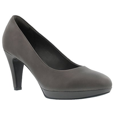 Clarks Women's BRIER DOLLY grey dress heels