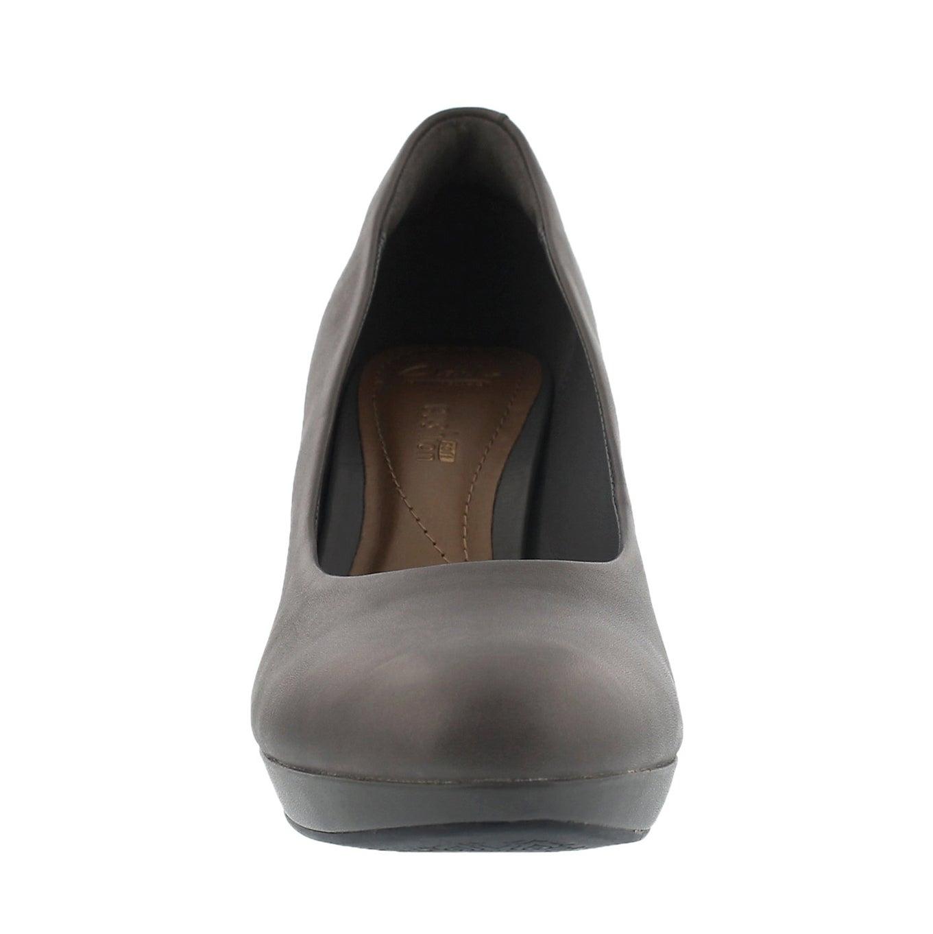 Lds Brier Dolly grey dress heel
