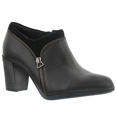 Clarks Women's ARAYA MORGAN black dress booties