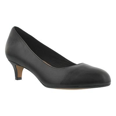 Lds Heavenly Shine black dress heel-WIDE