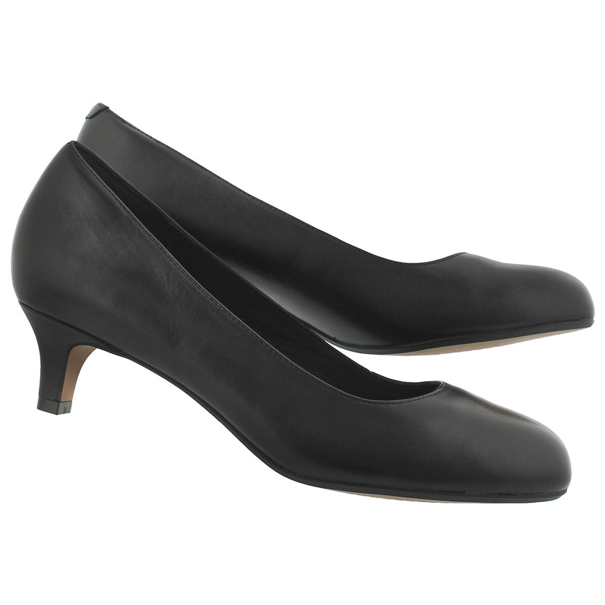 Lds Heavenly Shine black dress heel-WIDE