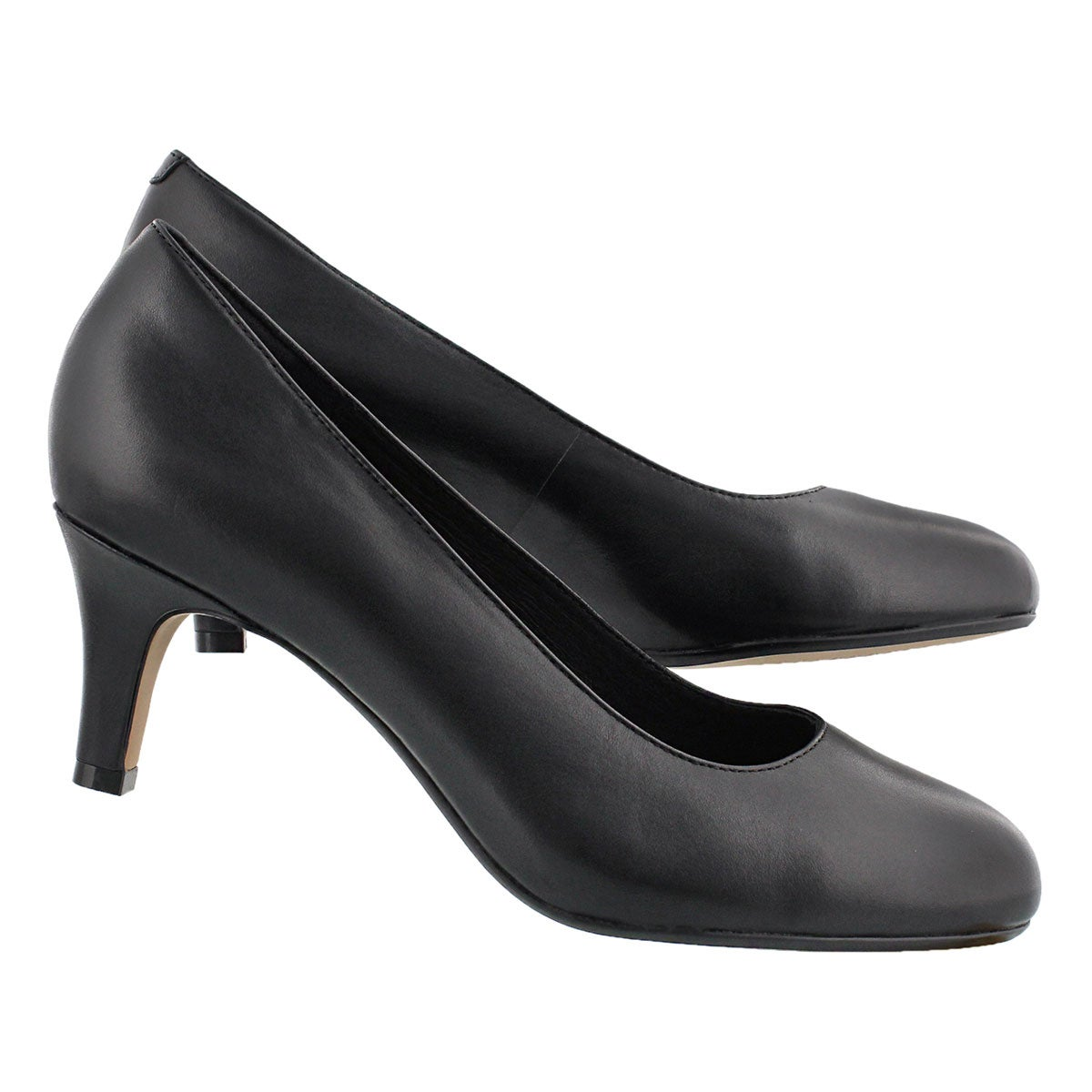 Lds Heavenly Heart black dress heel