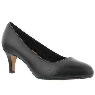 Lds Heavenly Heart black dress heel-WIDE
