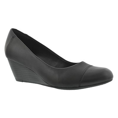 Clarks Women's BRIELLE ANDI black dress wedges