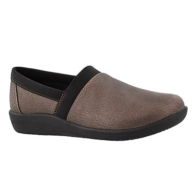 Clarks Women's SILLIAN BLAIR bronze slip on loafers