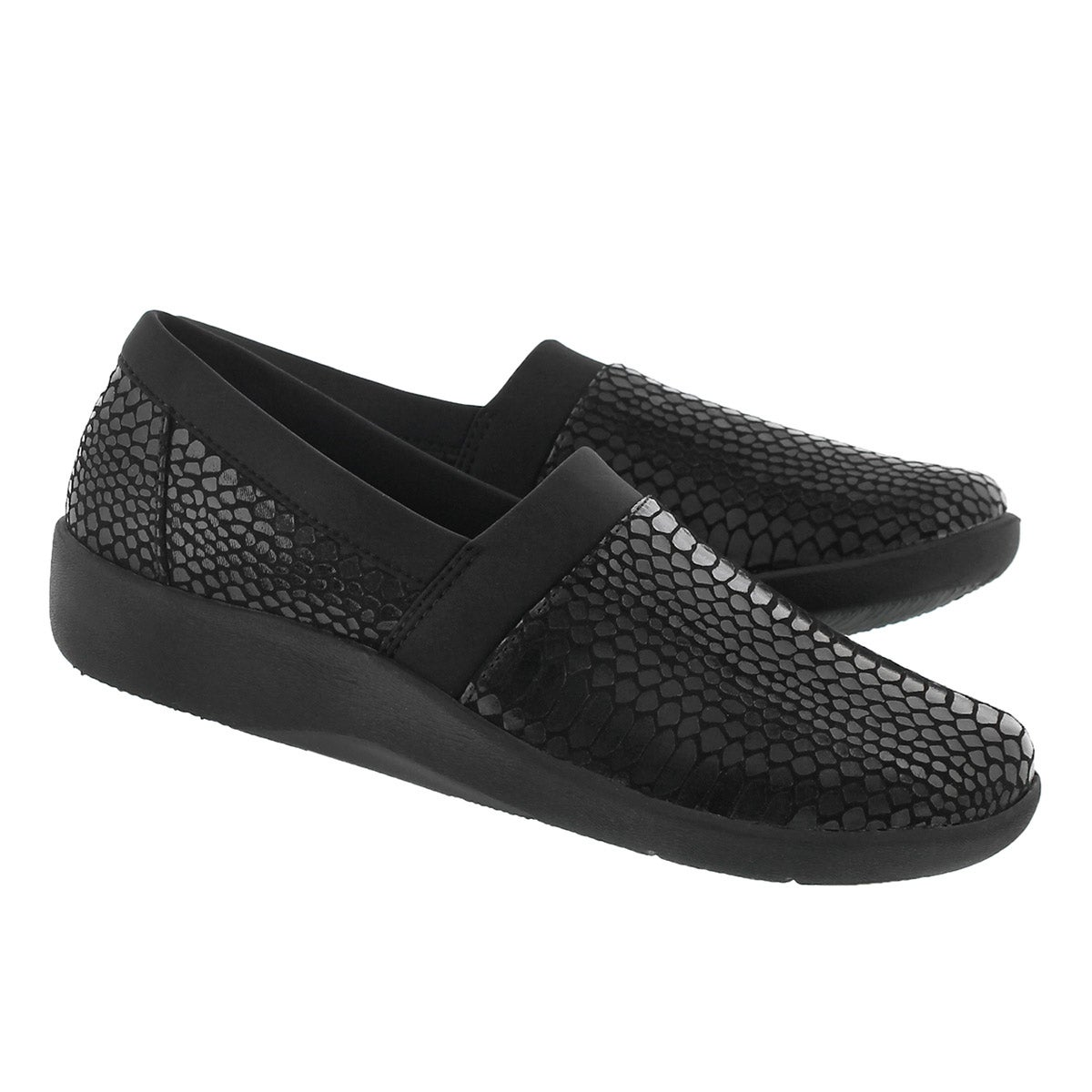 Lds Sillian Blair blk snk slip on loafer