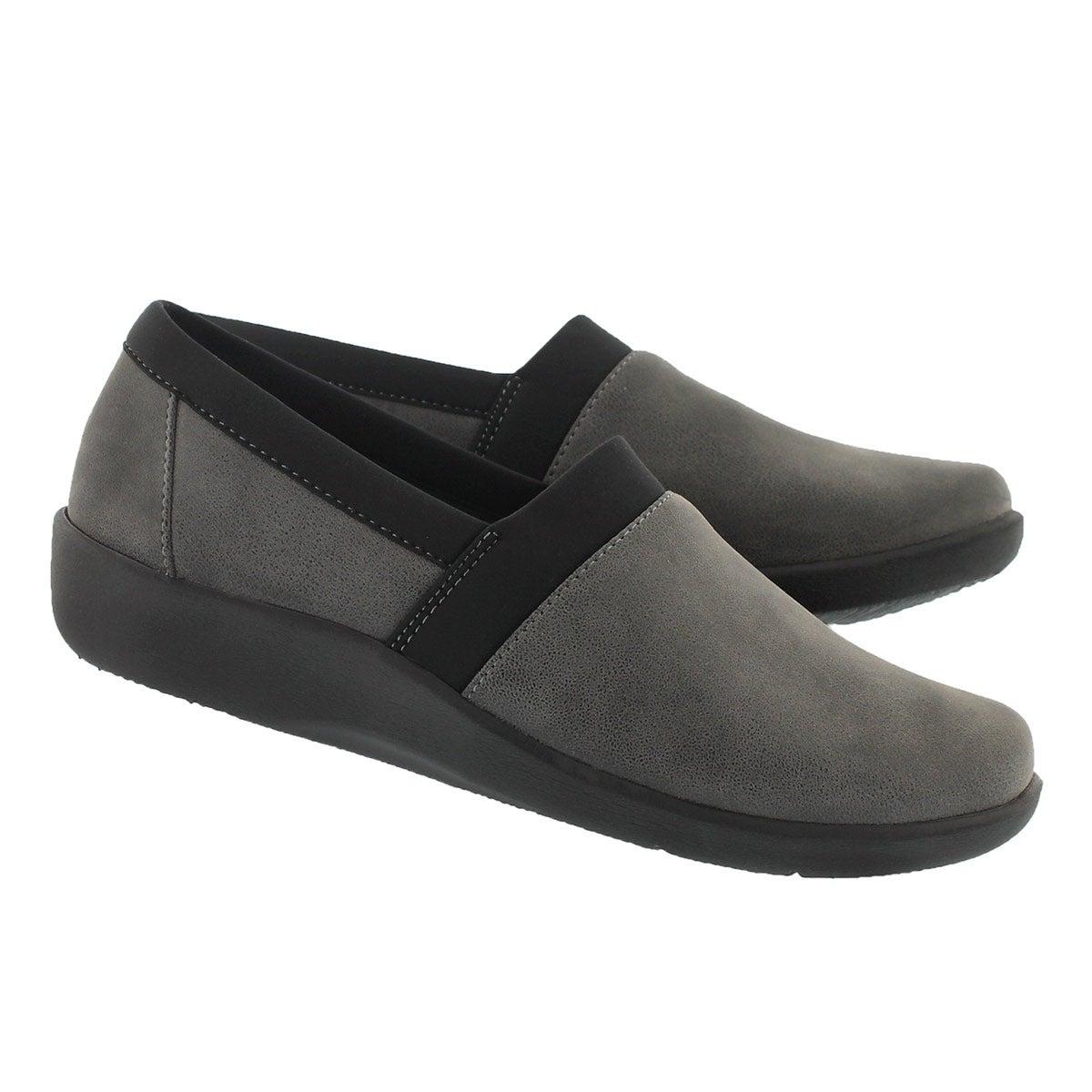 Lds Sillian Blair grey slip on loafer