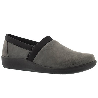 Clarks Women's SILLIAN BLAIR grey slip on loafers