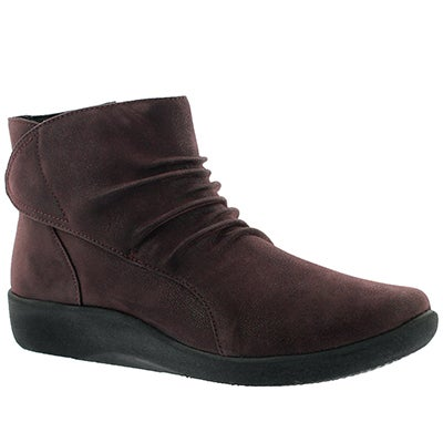 Lds Sillian Chell aubergine ankle boot