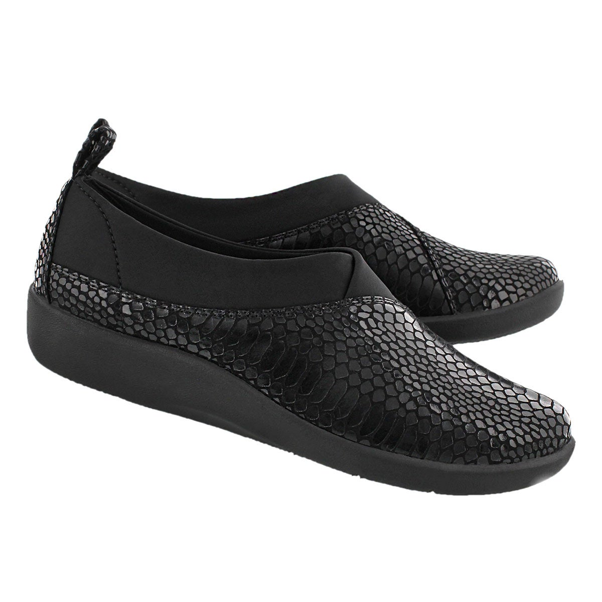 Lds Sillian Greer blk snk casual slip on