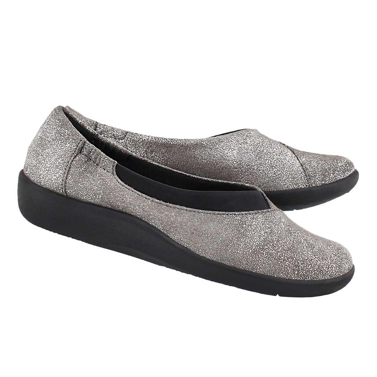 Lds Sillian Jetay silver casual slip on