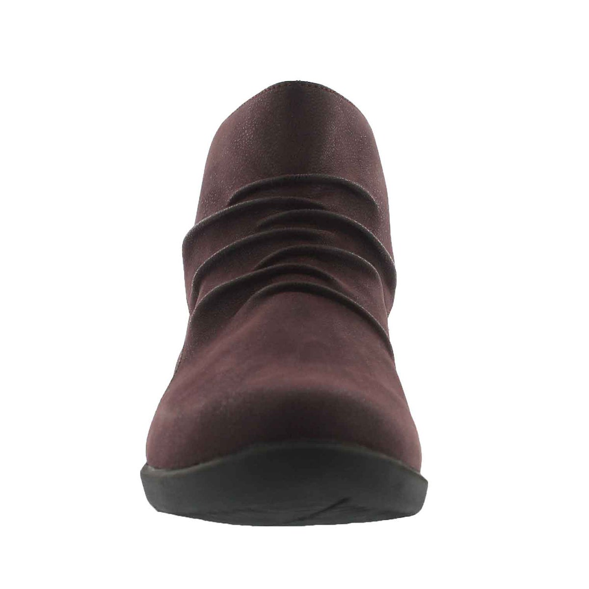 Lds Sillian Sway aubergine slip on boot