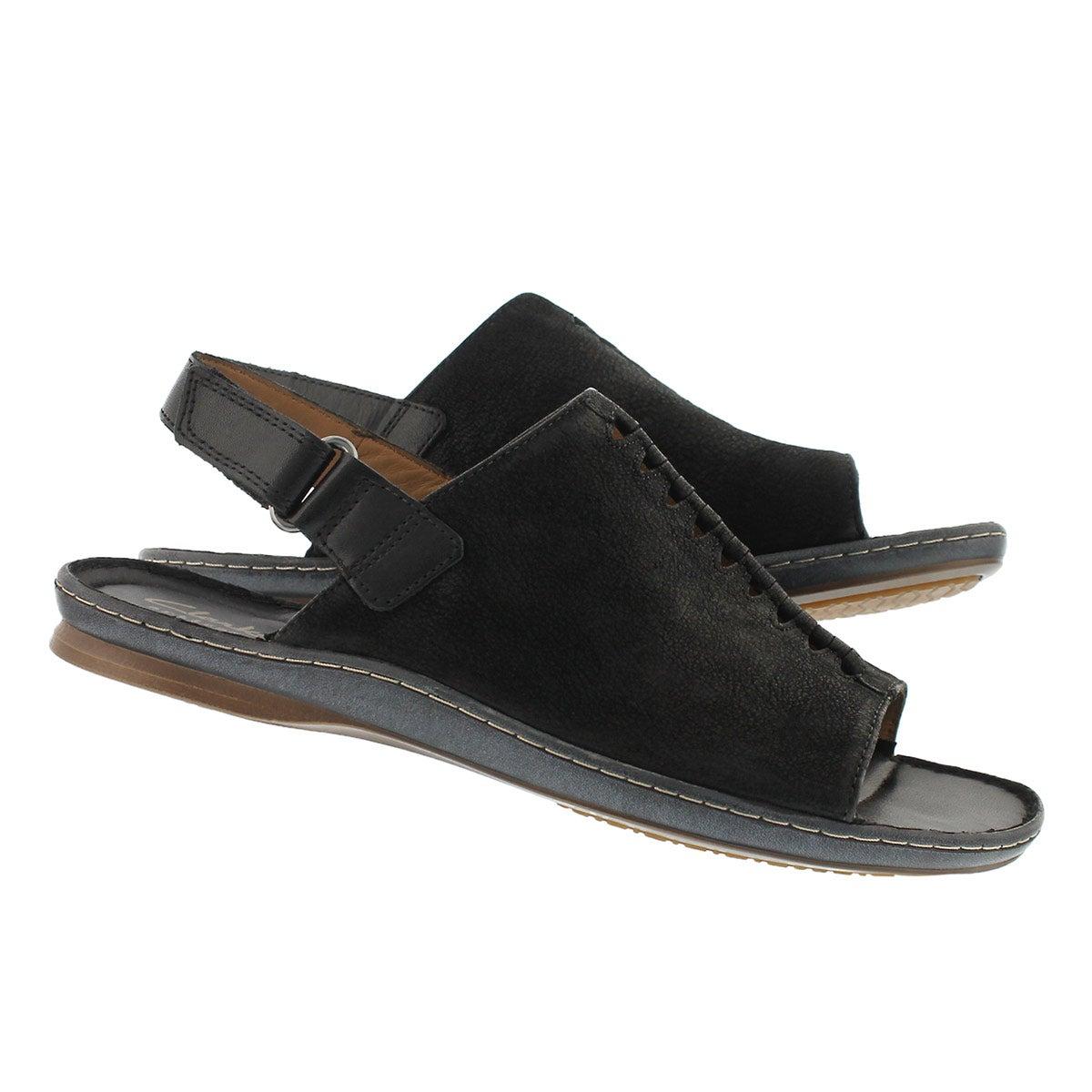 Lds Sarla Forte black casual sandal