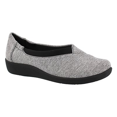 Clarks Women's SILLIAN JETAY grey casual slip ons