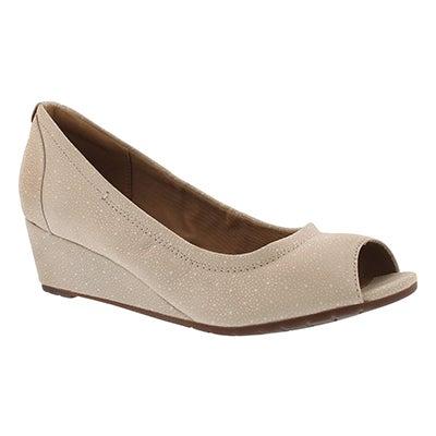 Lds Vendra Daisy nude peep toe wedge