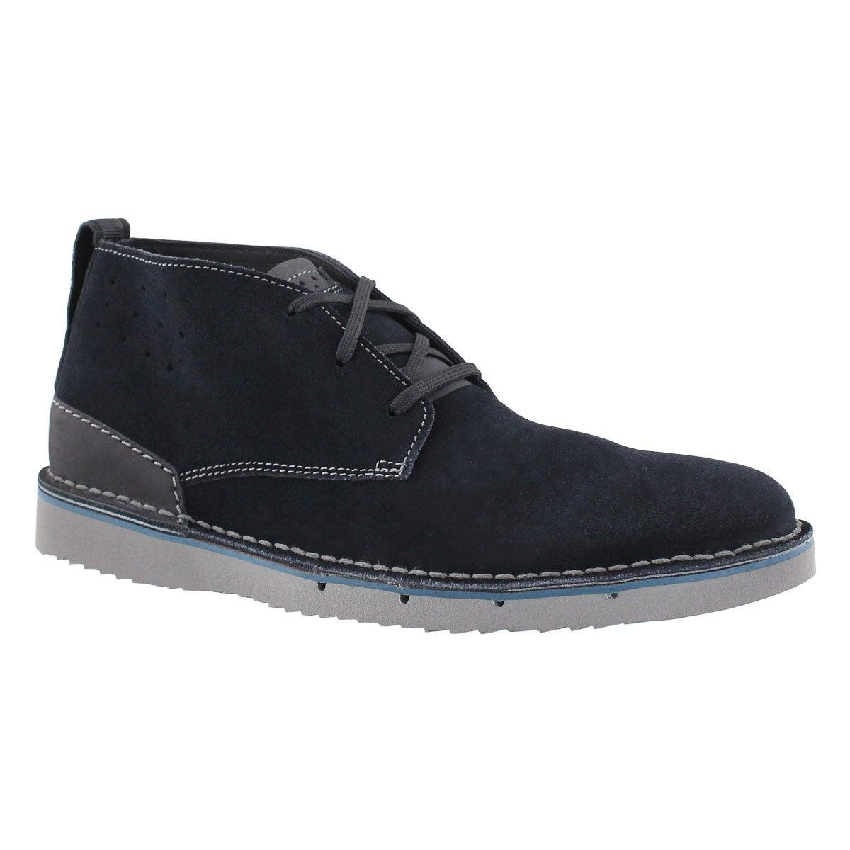 Men's CAPLER MID navy chukka boots