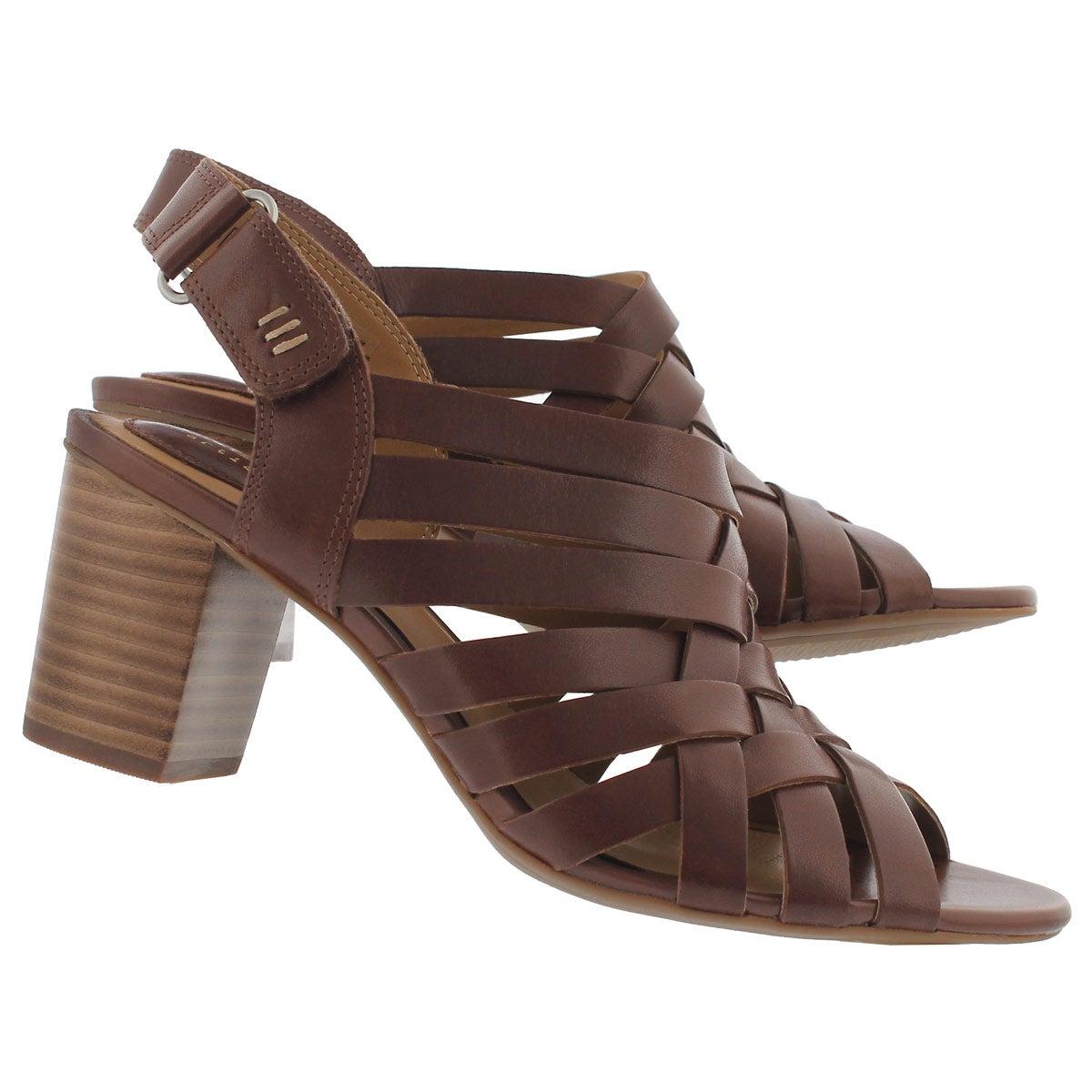 Lds Ralene Luster dark tan dress sandal