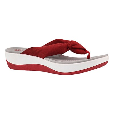 Lds Arla Glison red thong wedge sandal